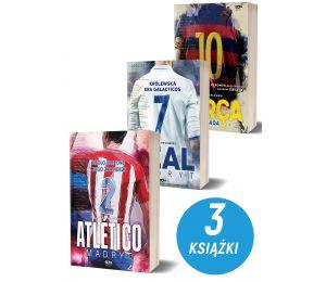 Okładki książek sportowych Atletico Madryt , Barca i Real