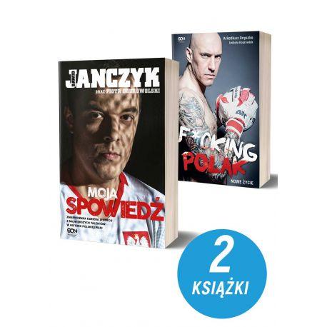 Okładki książek sportowych Dawid Janczyk. Spowiedź i Arkadiusz Onyszko