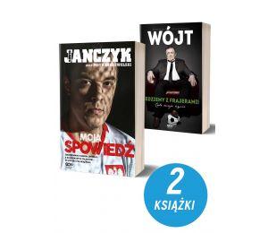 Okładki książek sportowych Dawid Janczyk Spowiedź i Wójt. Jedziemy z frajerami