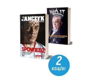 Okładki książek sportowych Dawid Janczyk i Wójt Jak goliłem frajerów