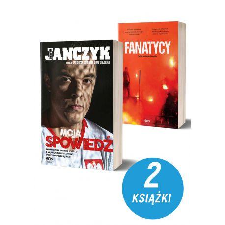 Okładki książek sportowych Dawid Janczyk Spowiedź i Fanatycy. Futbol na śmierć i życie