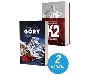 Okładki zestawu książek sportowych dostępnych na labotiga.pl. Anatomia Góry i Wszystko za K2