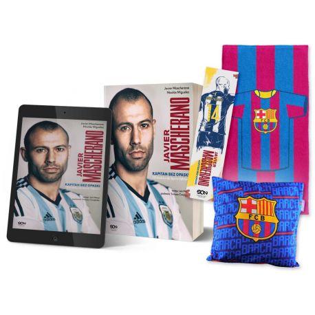 Pakiet: książka Javier Mascherano. Wyd. II + ebook + zakładka + ręcznik pasy + poduszka