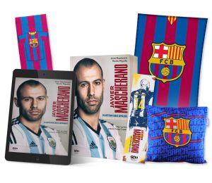 Pakiet: książka Javier Mascherano. Wydanie II + ebook + zakładka + ręcznik pasy + poduszka + koc