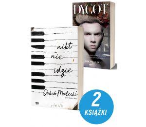 Okładka pakietu książek Wydawnictwa SQN Nikt nie idzie i Dygot Jakuba Małeckiego