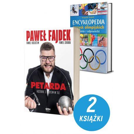 Okladki-ksiazek-sportowych-Paweł-Fajdek-Petarda-Encyklopedia igrzysk-pakiet-w-ksiegarni-sportowej-laBotiga