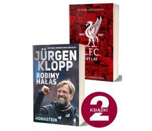 Okładki książek sportowych Jurgen Klopp. Robimy hałas i Liverpool FC. 125 lat alternatywnej historii klubu