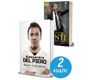 Okładki książek sportowych Alessandro Del Piero. Między nami mówiąc oraz Antonio Conte
