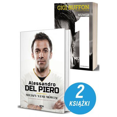 Okładki książek sportowych Alessandro Del Piero. Między nami mówiąc oraz Gramy dalej