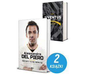 Okładki książek sportowych Alessandro Del Piero. Między nami mówiąc oraz Juventus