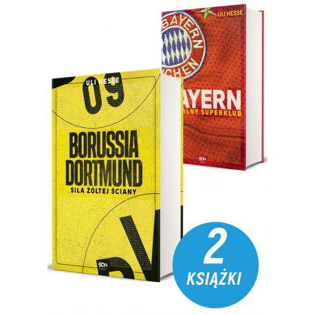Zdjęcie pakietu książek sportowych Borussia Dortmund i Bayern. Globalny superklub