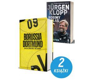 Zdjęcie pakietu książek sportowych Borussia Dortmund i Jurgen Klopp