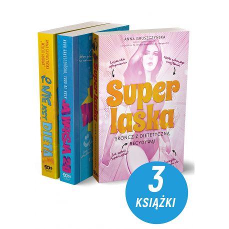 Zdjęcie pakietu książek o dziecie Super laska, Ja, wersja 2.0 oraz To nie jest dieta
