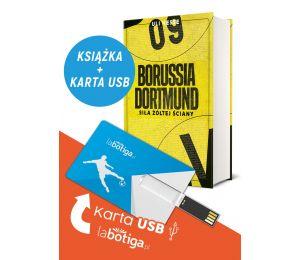 Zdjęcie pakietu książek sportowych Borussia Dortmund i Pendrive labotiga