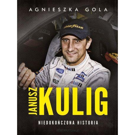 Okładka książki o motoryzacji Janusz Kulig. Niedokończona historia