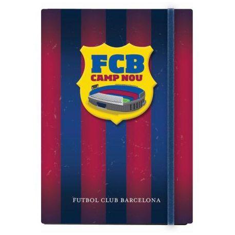 Notes A6 z gumką w linie 96 kartek FC Barcelona na labotiga.pl
