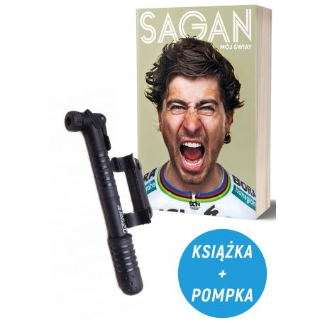 Pakiet: Peter Sagan. Mój świat + pompka rowerowa