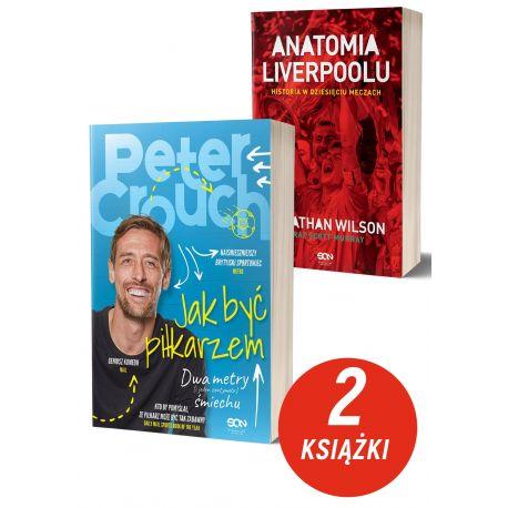 Zdjęcie pakietu książek sportowych Peter Crouch i Anatomia Liverpoolu