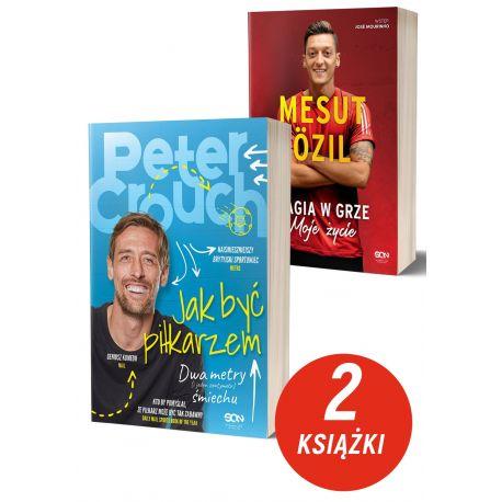 Zdjęcie pakietu książek sportowych Peter Crouch i Mesut Ozil