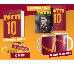 Zdjęcie bookboxa, czyli książki Totti. Kapitan. Autobiografia w limitowanej wersji SQN Originals oraz gadżetów sportowych na Lab
