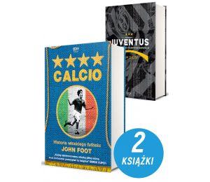Zdjęcie pakietu Calcio. Historia włoskiego futbolu + Juventus. Historia w biało-czarnych barwach w księgarni sportowej Labotiga