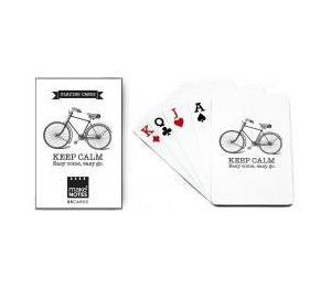 MN Cycling Karty do gry białe talia 55 kart