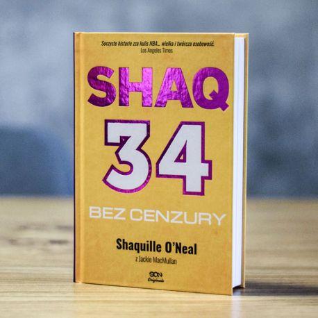 Okładka książki sportowej Shaq. Bez cenzury. Wyd. II w księgarni Labotiga