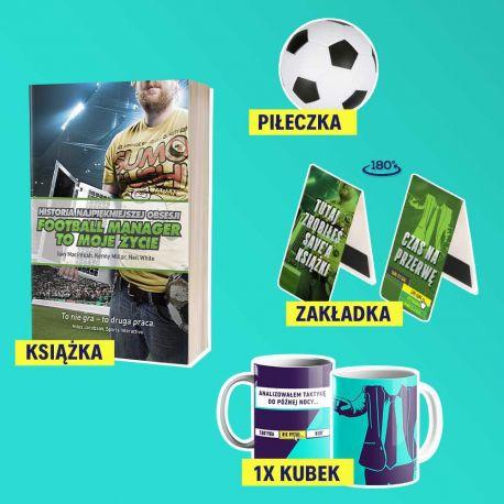 Bookbox z książką sportową Football Manager to moje życie.