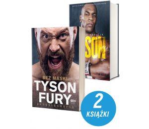 Zdjęcie pakietu Tyson Fury. Bez maski + Tyson. Żelazna ambicja w księgarni sportowej Labotiga