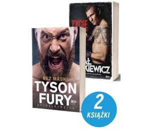 Zdjęcie pakietu Tyson Fury. Bez maski + Rafał Jackiewicz. Życie na ostrzu noża w księgarni sportowej Labotiga