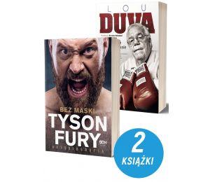 Zdjęcie pakietu Tyson Fury. Bez maski + Lou Duva. Moje siedem dekad w boksie w księgarni sportowej Labotiga