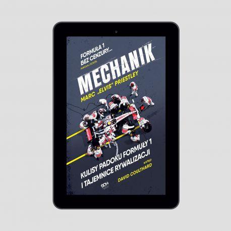 Okladka ksiazki sporotowej o motoryzacji Mechanik Kulisy padoku F1 i tajemnice McLarena