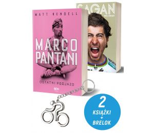 Pakiet: Marco Pantani. Ostatni podjazd + Peter Sagan. Mój świat + Brelok kolarski