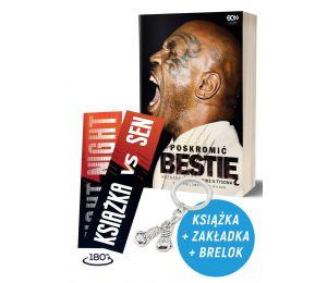 Zdjęcie pakietu Poskromić bestię. Nieznana historia Mike'a Tysona + zakładka + brelok w księgarni Labotiga