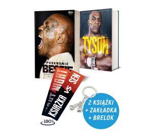 Zdjęcie pakietu Poskromić bestię. Nieznana historia Mike'a Tysona + Tyson. Żelazna ambicja + Zakładka + Brelok w księgarni Labot