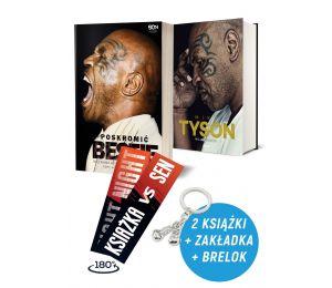 Zdjęcie pakietu: Poskromić bestię. Nieznana historia Mike'a Tysona + Mike Tyson. Moja prawda + Zakładka + Brelok w księgarni La