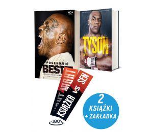 Zdjęcie pakietu: Poskromić bestię. Nieznana historia Mike'a Tysona + Tyson. Żelazna ambicja + Zakładka w księgarni Labotiga