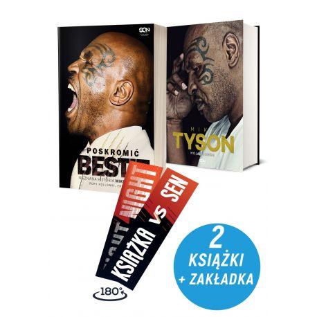 Zdjęcie pakietu: Poskromić bestię. Nieznana historia Mike'a Tysona + Mike Tyson. Moja prawda + Zakładka w księgarni Labotiga