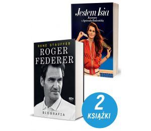 Zdjęcie pakietu Roger Federer. Biografia + Jestem Isia. Rozmowa z Agnieszka Radwańską w księgarni Labotiga