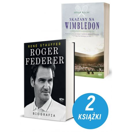 Zdjęcie pakietu Roger Federer. Biografia + Skazany na Wimbledon. Artur Rolak w księgarni Labotiga