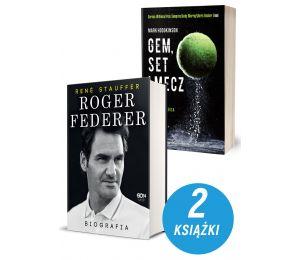 Zdjęcie pakietu Roger Federer. Biografia + Gem set mecz Tajemna broń światowych mistrzów tenisa w księgarni Labotiga