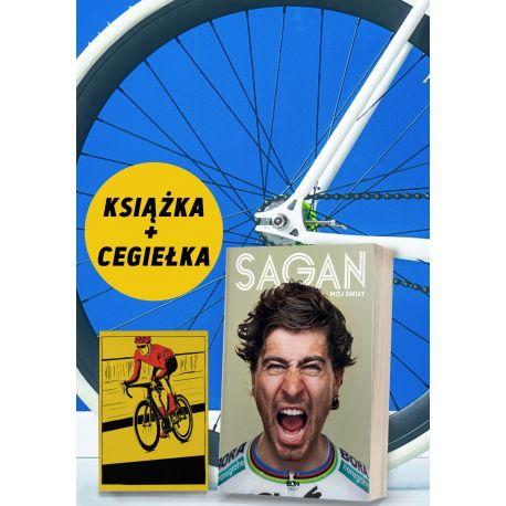 Pakiet: Peter Sagan. Mój świat + Cegiełka wsparcie kolarek + zakładka