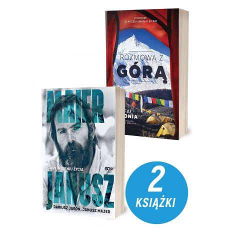 Zdjęcie pakietu Janusz Majer. Góry w cieniu życia + Rozmowa z górą w księgarni sportowej Labotiga