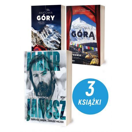 Zdjęcie pakietu Janusz Majer. Góry w cieniu życia + Anatomia góry + Rozmowa z Górą w księgarni Labotiga