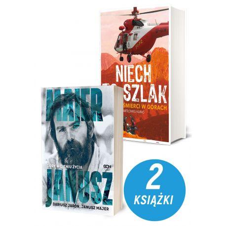 Zdjęcie pakietu Janusz Majer. Góry w cieniu życia + Niech to szlak! Kronika śmierci w górach w księgarni sportowej Labotiga