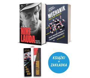 Zdjęcie pakietu: Niki Lauda. Naznaczony (zakładka gratis) + Mechanik. Kulisy padoku F1 i tajemnice McLarena w księgarni Labotiga
