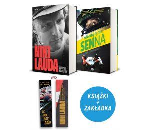 Zdjęcie pakietu: Niki Lauda. Naznaczony (zakładka gratis) + Wieczny Ayrton Senna w księgarni Labotiga