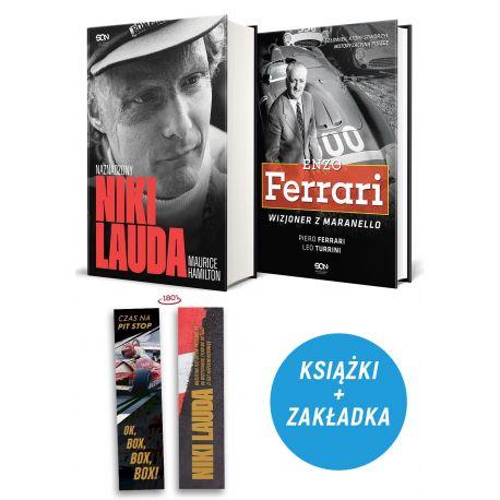 Zdjęcie pakietu: Niki Lauda. Naznaczony (zakładka gratis) + Enzo Ferrari. Wizjoner z Maranello w księgarni Labotiga