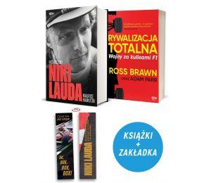 Zdjęcie pakietu: Niki Lauda. Naznaczony (zakładka gratis) + Rywalizacja totalna. Wojny za kulisami F1 w księgarni Labotiga