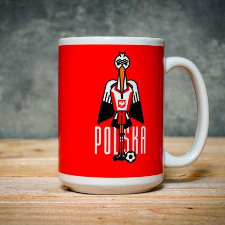 Kubek duży 430 ml Bocian z Polski kolekcja Jan Kallwejt Labotiga